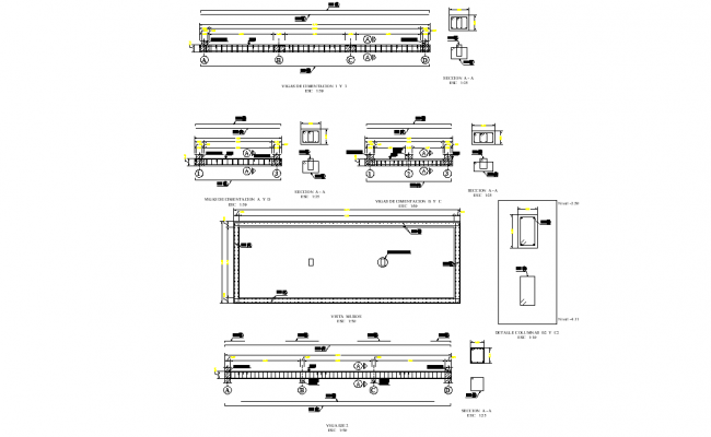 Beam section plan dwg file