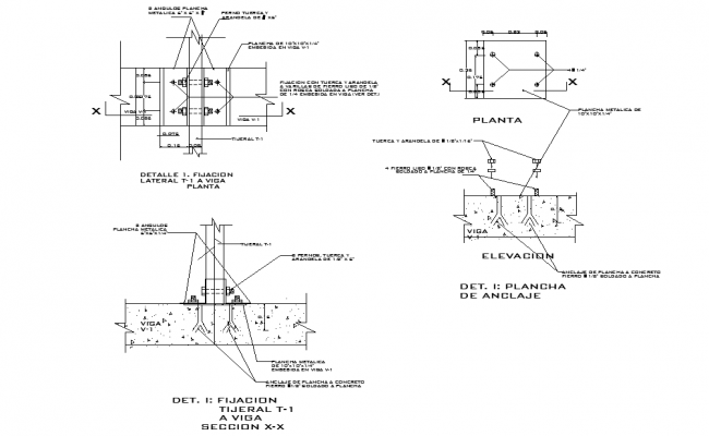 Beam section plan layout file