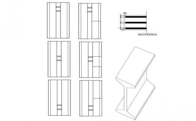 Beam structure cad drawing details dwg file