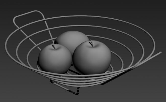 Beautiful Fruit Tray 3D MAX File Free Download