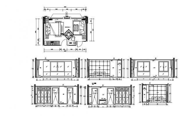 Bedroom Design DWG File Free Download