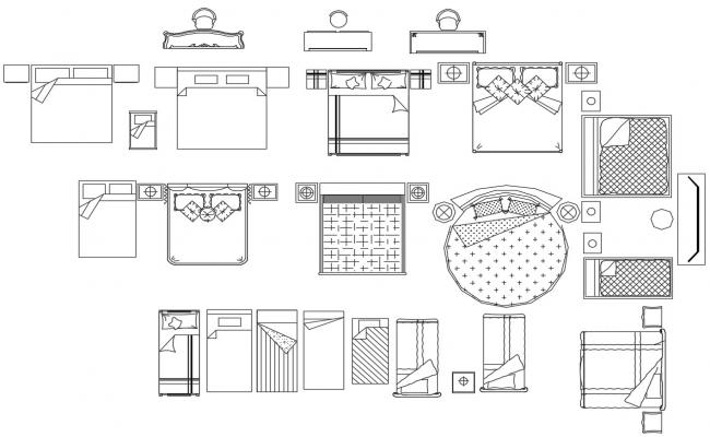 Bedroom Furniture CAD Drawing