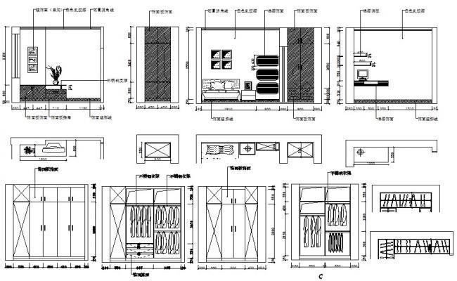 Bedroom Furniture Design AutoCAD File