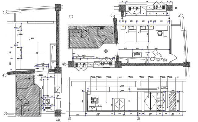 Bedroom Furniture Layout Planner AutoCAD File Free Download