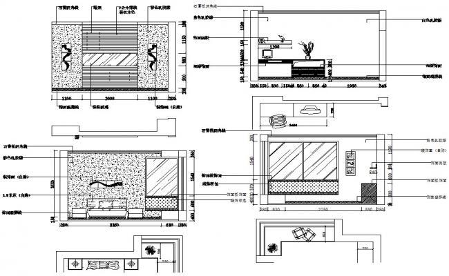 Bedroom Interior CAD Drawing