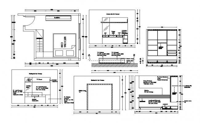Bedroom Interior Design DWG File