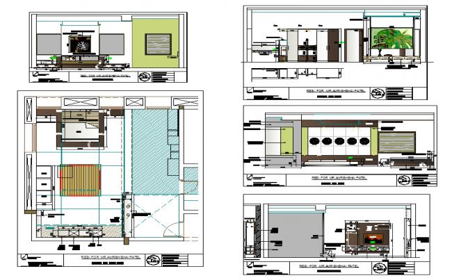 Bedroom design drawing of House design