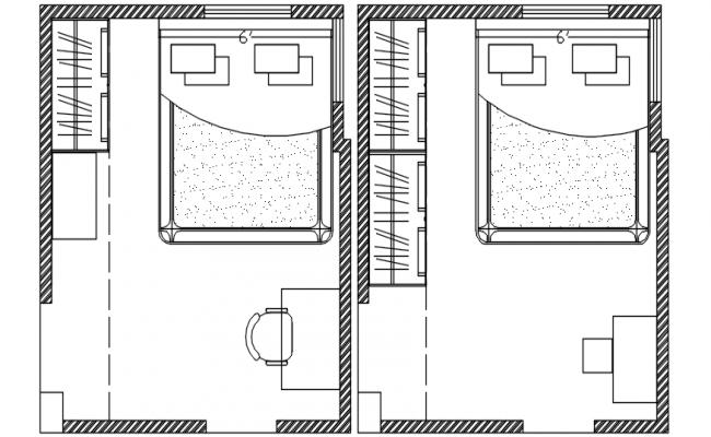 Bedroom Drawing In DWG File