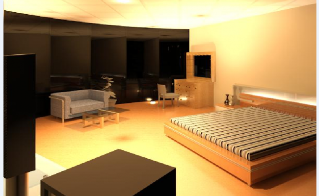 Bedroom design with interior layout dwg file