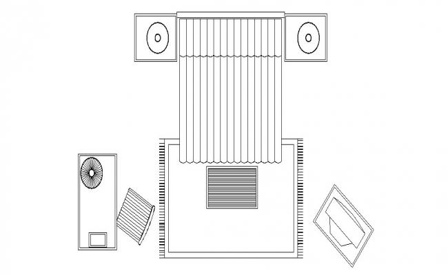 Bedroom furniture layout plan cad drawing details dwg file