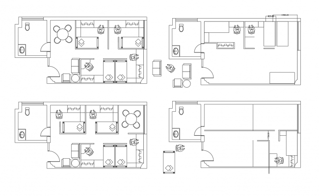 Bedroom layout in dwg file