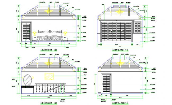 Bedrooms Design dwg file