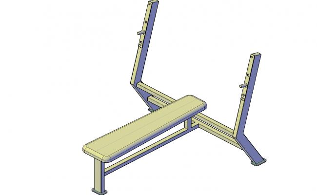 Bench press bench plan detail dwg file.