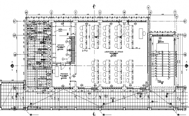 Big Layout plan of a school dwg file