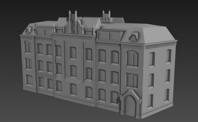 Big Palace Elevation 3D MAX File Free