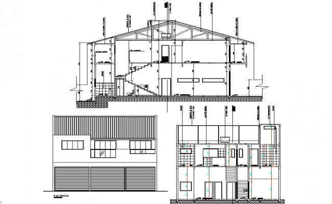 Big bungalow elevation detail