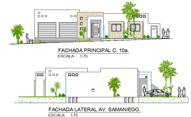 Big bungalow elevation details