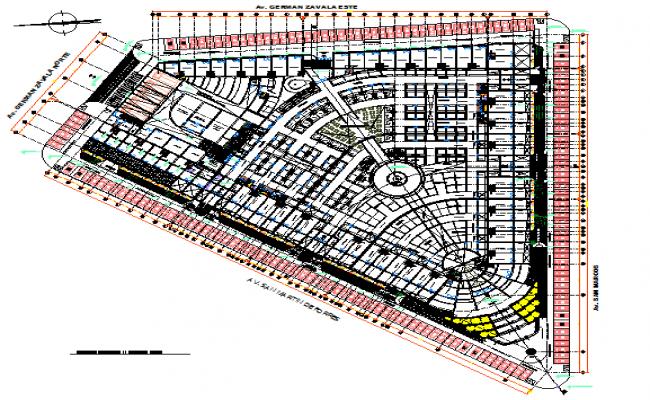 Big layout plan details dwg file