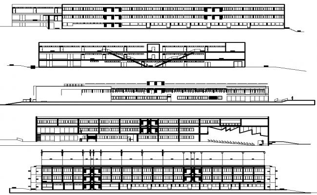 Big school layout plan dwg file