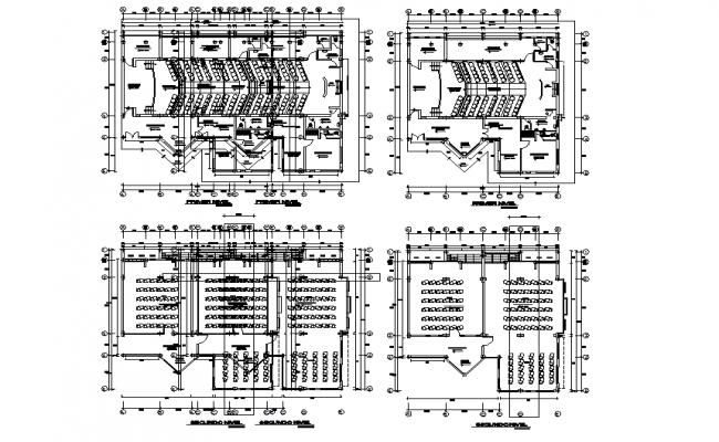 Biology college plan detail dwg file