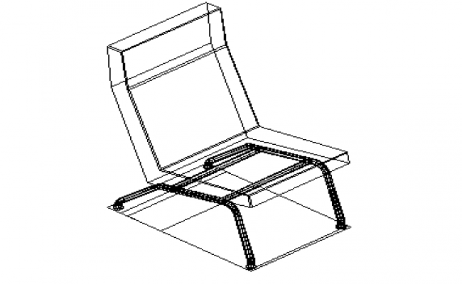 Black chair furniture model detail