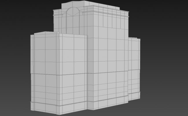 Block Elevation of Commercial Building 3D MAX File Free