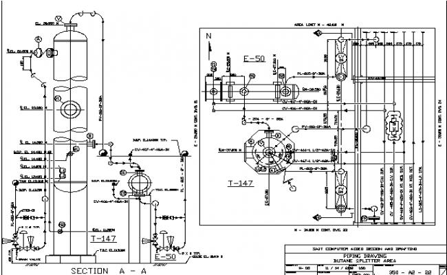 Block butane splitter sectional details