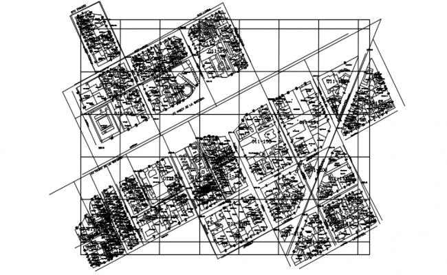 Block divide Key plan detail dwg file