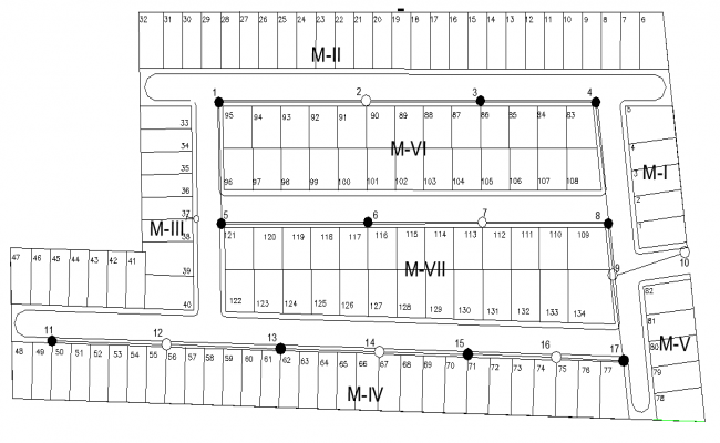 Block divided planning layout file