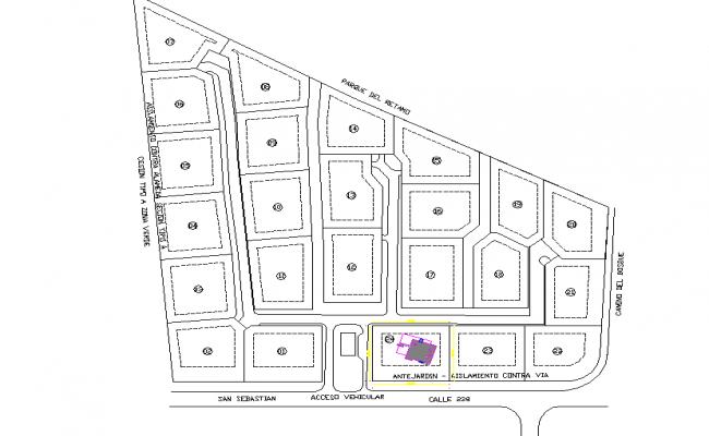 Block divided plot layout file