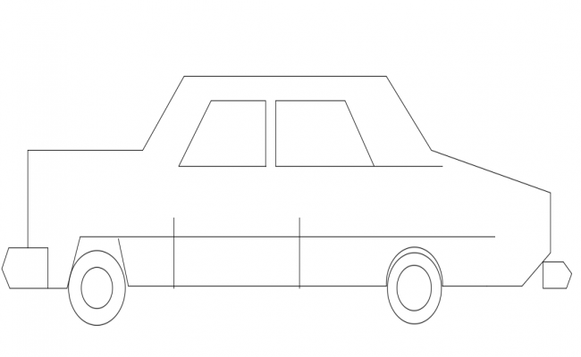 Block elevation of car view dwg file