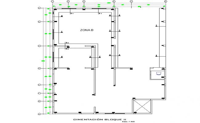 Block foundation plan detail