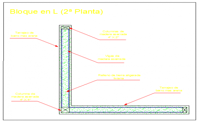 Block system with mixed ground block in second plant design drawing