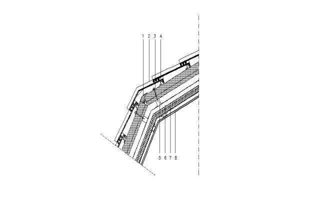 Board ventilation for ceiling cad structure details dwg file