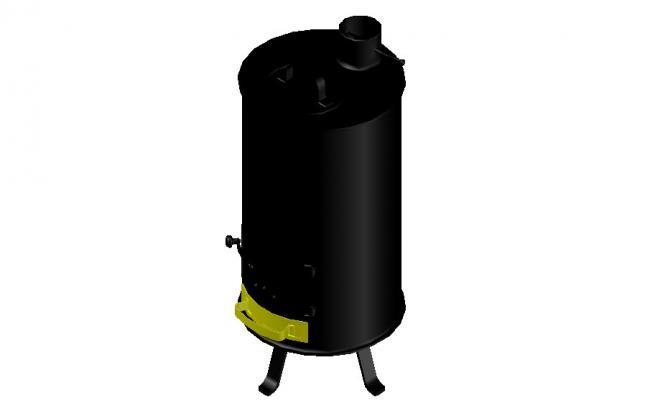 Boiler equipment 3d design cad drawing details dwg file