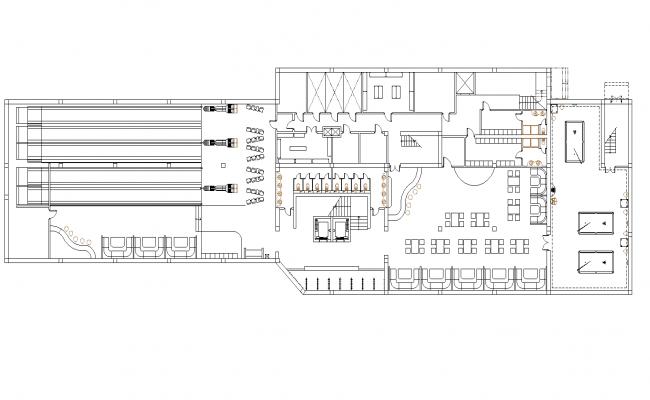 Bowling plan detail dwg file.