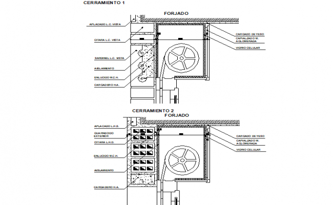 Break of thermal bridges detail dwg file
