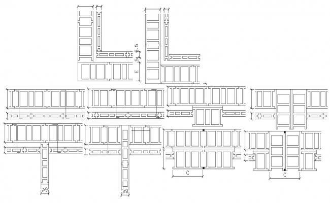 Brick Jali Construction Drawing CAD File Free