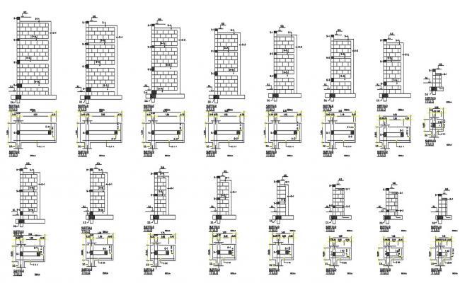 Brick Wall Cladding CAD Drawing