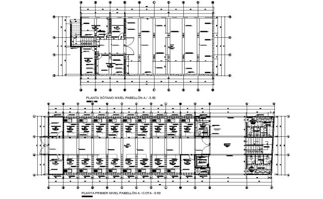 Brick building plan autocad file