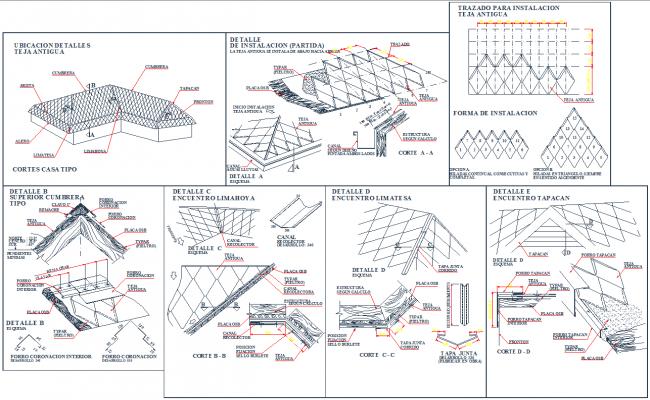 Brick Detail Gable End Autocad Dwg Files