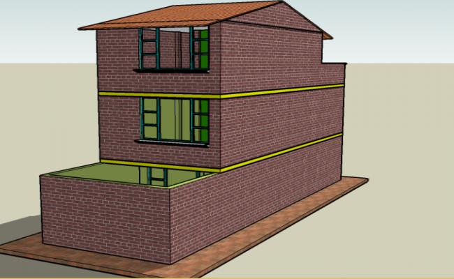 Brick home construction elevation detail