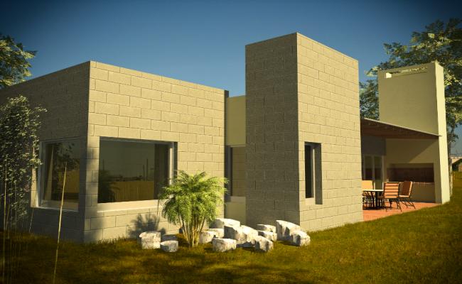 Brick wall detail 3d elevation detail