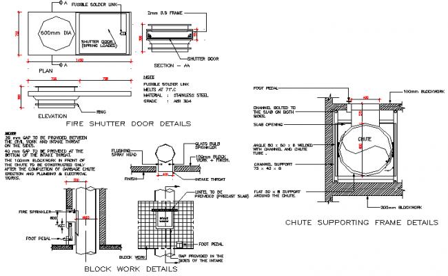 Brick work detail dwg file