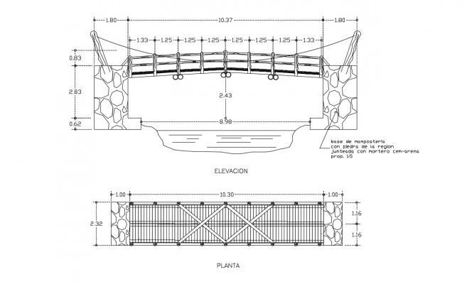 Bridge Design AutpCAD File