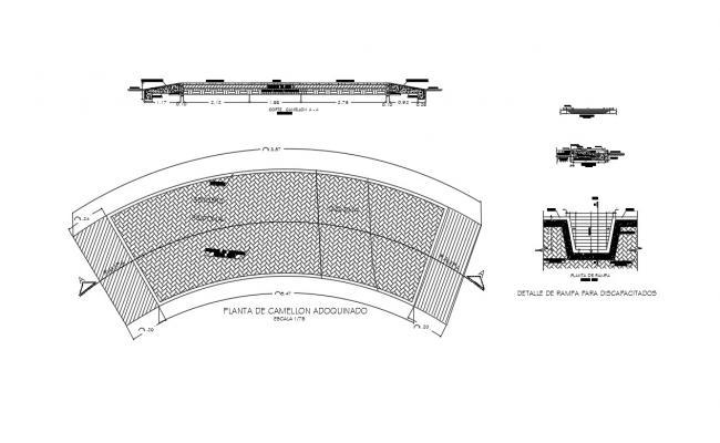 Bridge Structure Detail In AutoCAD File