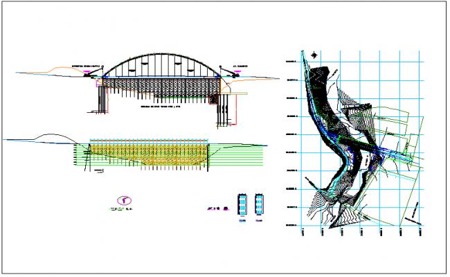 Bridge detail information view dwg file