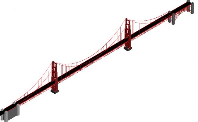 Bridge drawing  architecture 3d design