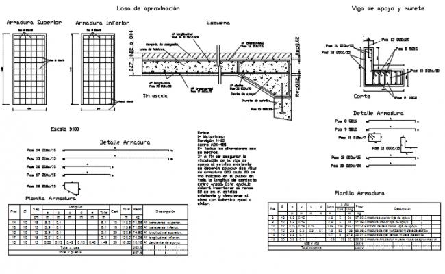 Bridge plan detail dwg file