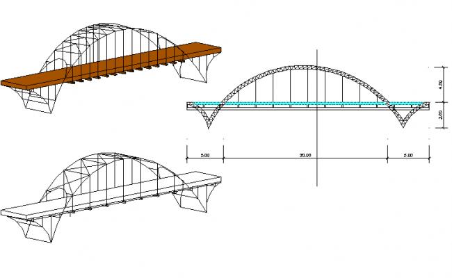 Bridge project plan detail dwg file